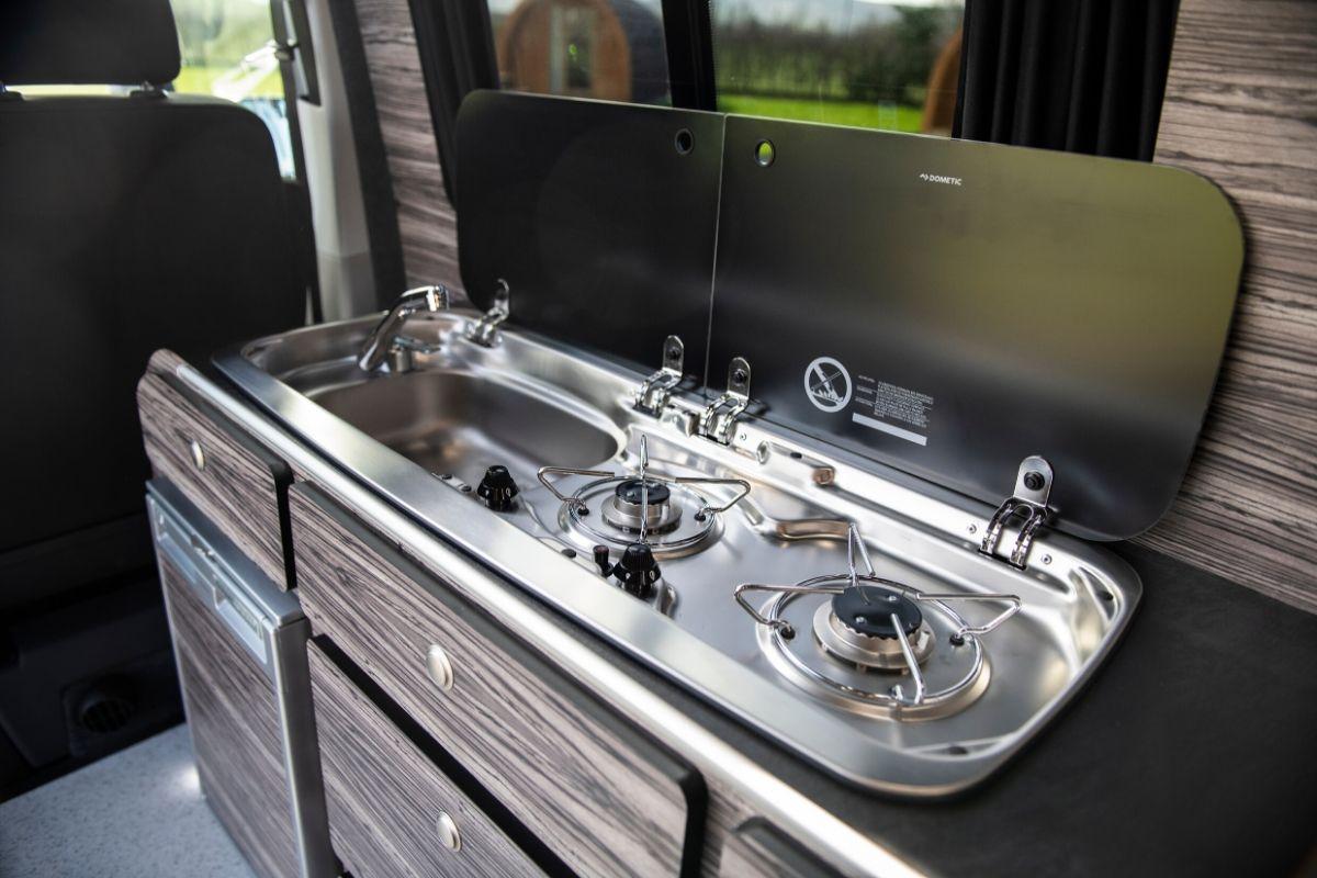 Custom campervan kitchens storage