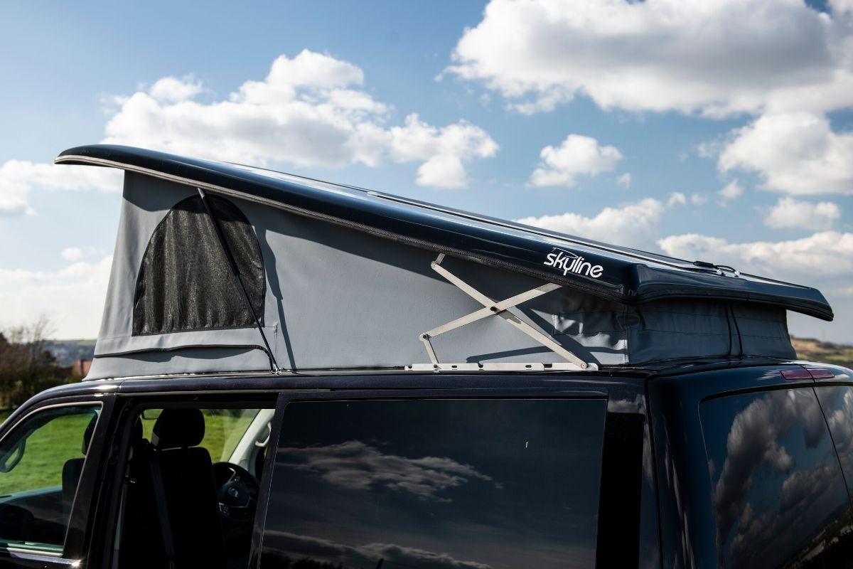 Skyline pop top roof for campervan storage