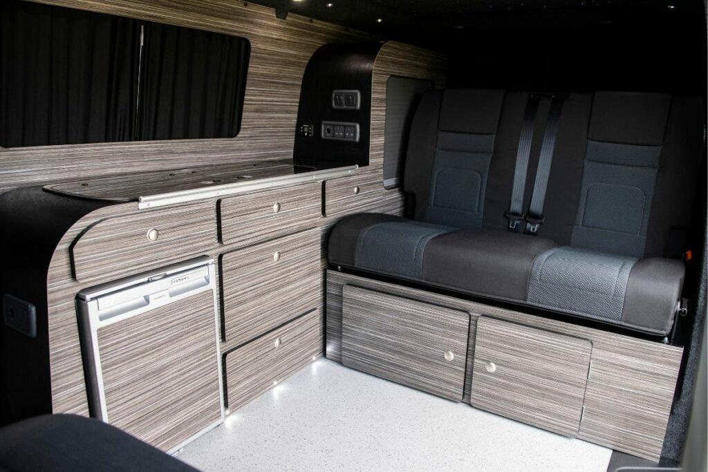 Underseat storage campervan