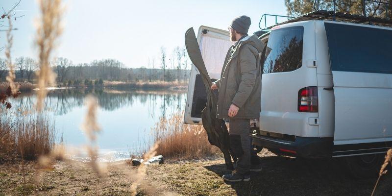 Angler with campervan - camperversions