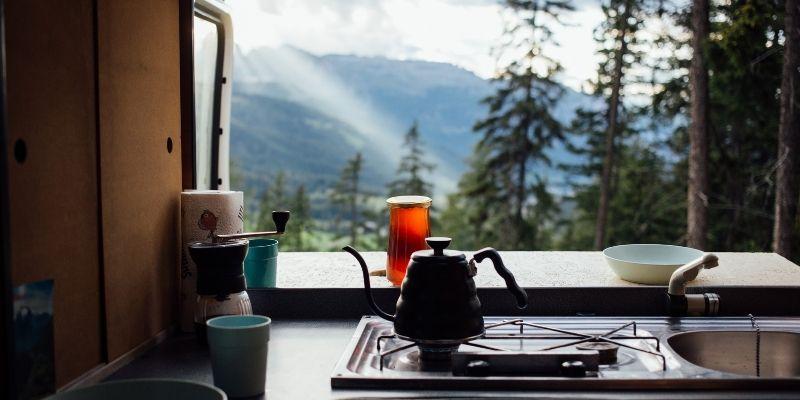 Campervan hob and kettle - camperversions