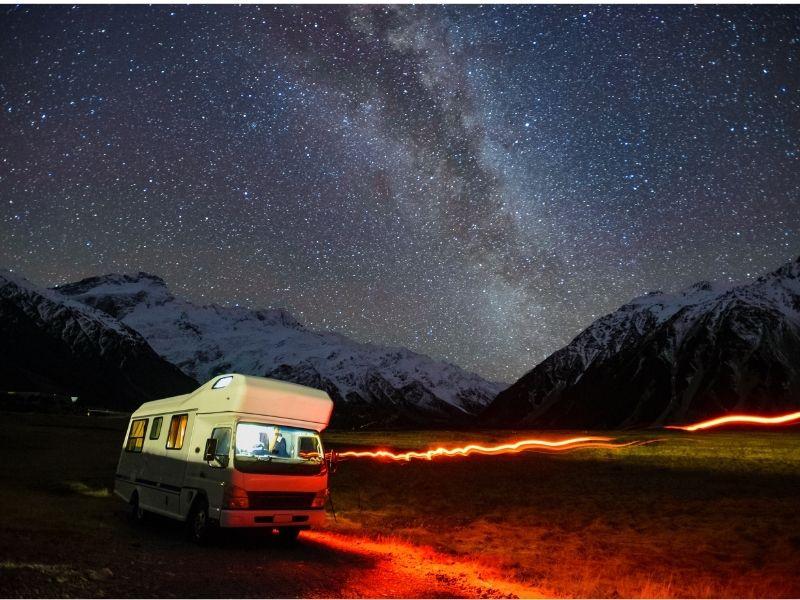 Campervan in Winter